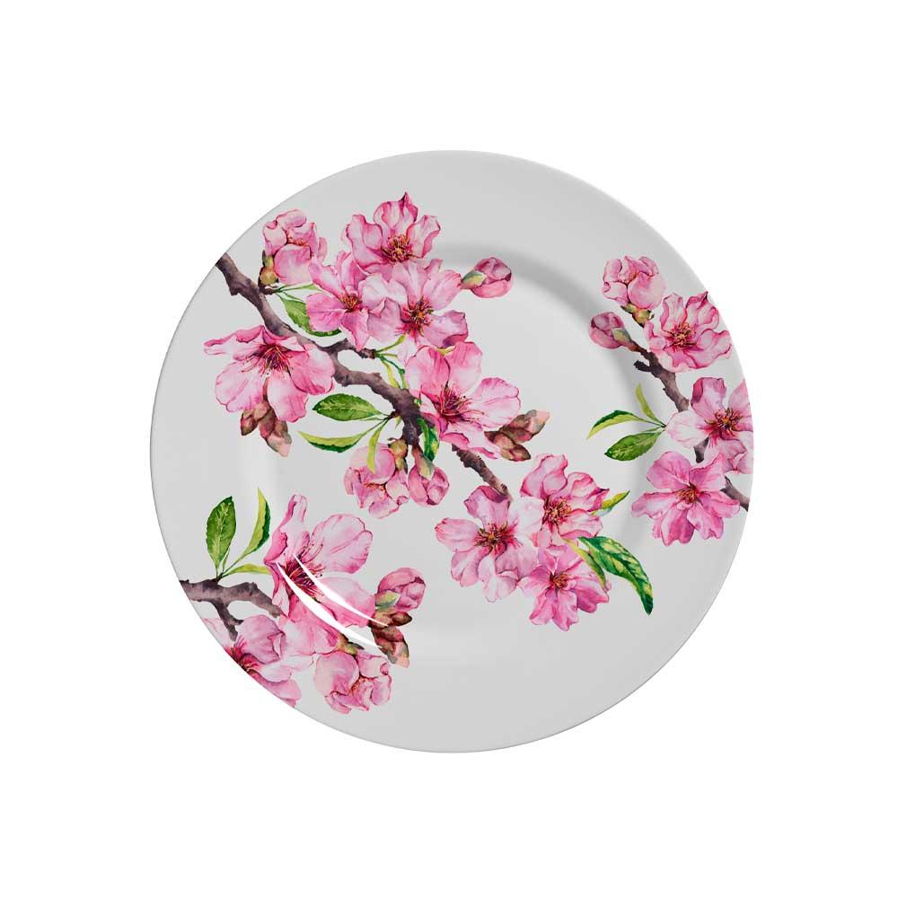 Prato de Sobremesa Cerâmica Fauna 19,5cm Alleanza