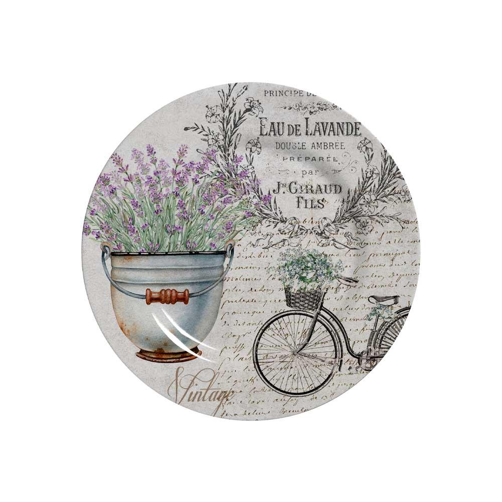 Prato de Sobremesa Cerâmica Lavanda 19,5cm Alleanza