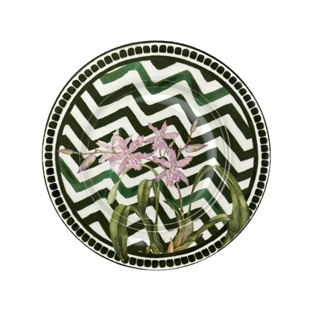 Prato de Sobremesa Cerâmica Orchid 19,5cm Alleanza