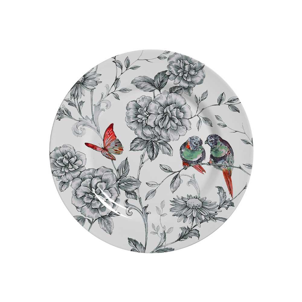 Prato de Sobremesa Cerâmica Volare 19,5cm Alleanza