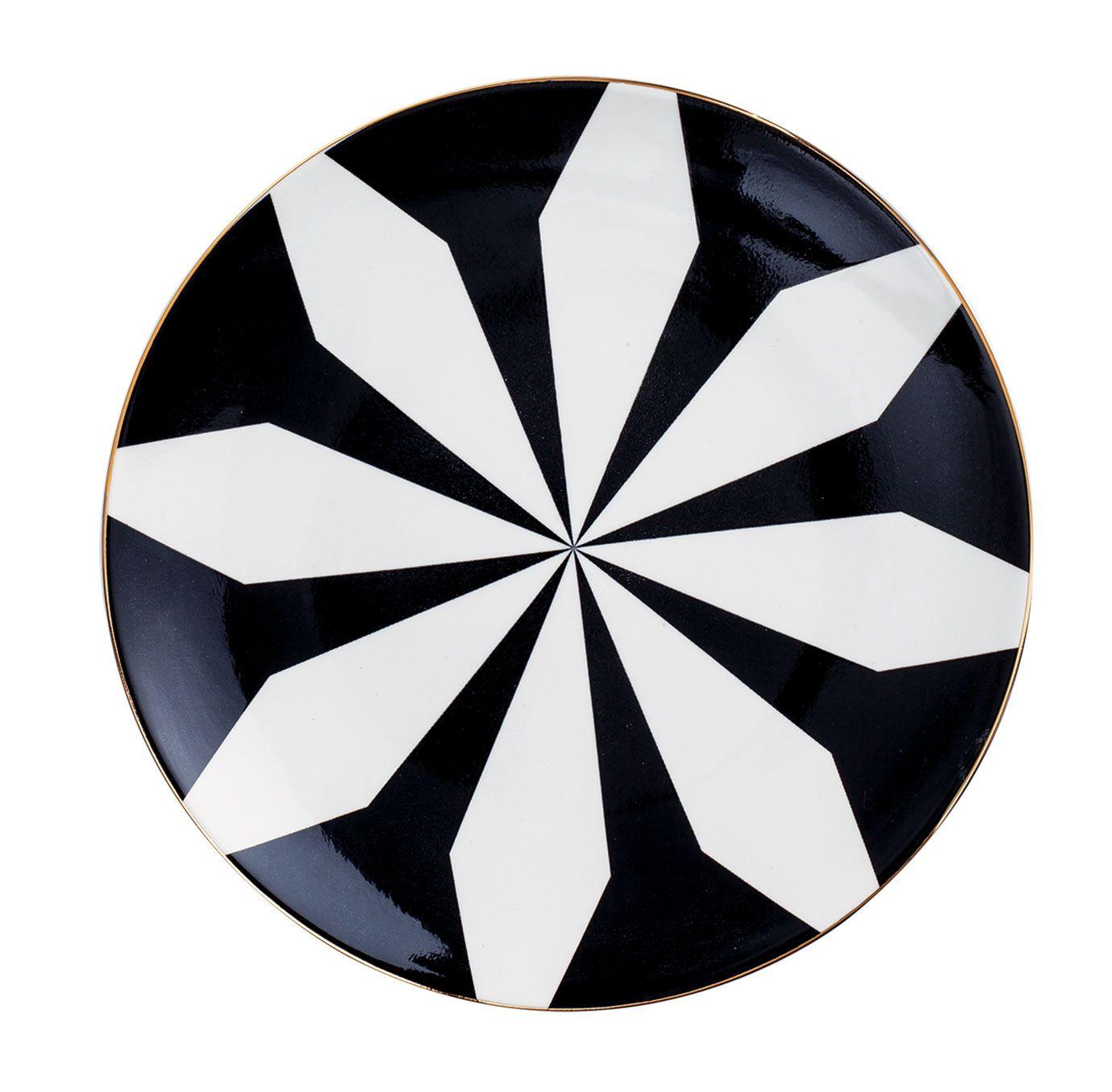 Prato Decorativo em Cerâmica Catavento