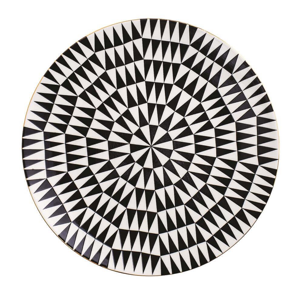 Prato Decorativo em Cerâmica Triangulares