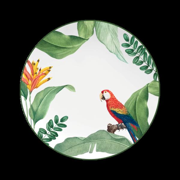 Prato Fundo Convexa Natureza 21cm Germer Porcelanas