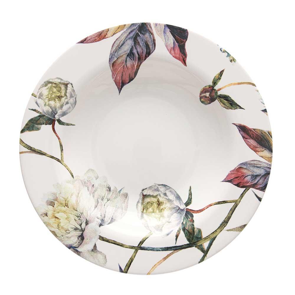 Prato Fundo de Cerâmica Aquarelle Giardino