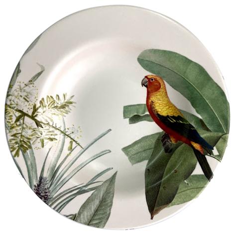 Prato Fundo de Cerâmica Fauna 24,5cm Alleanza