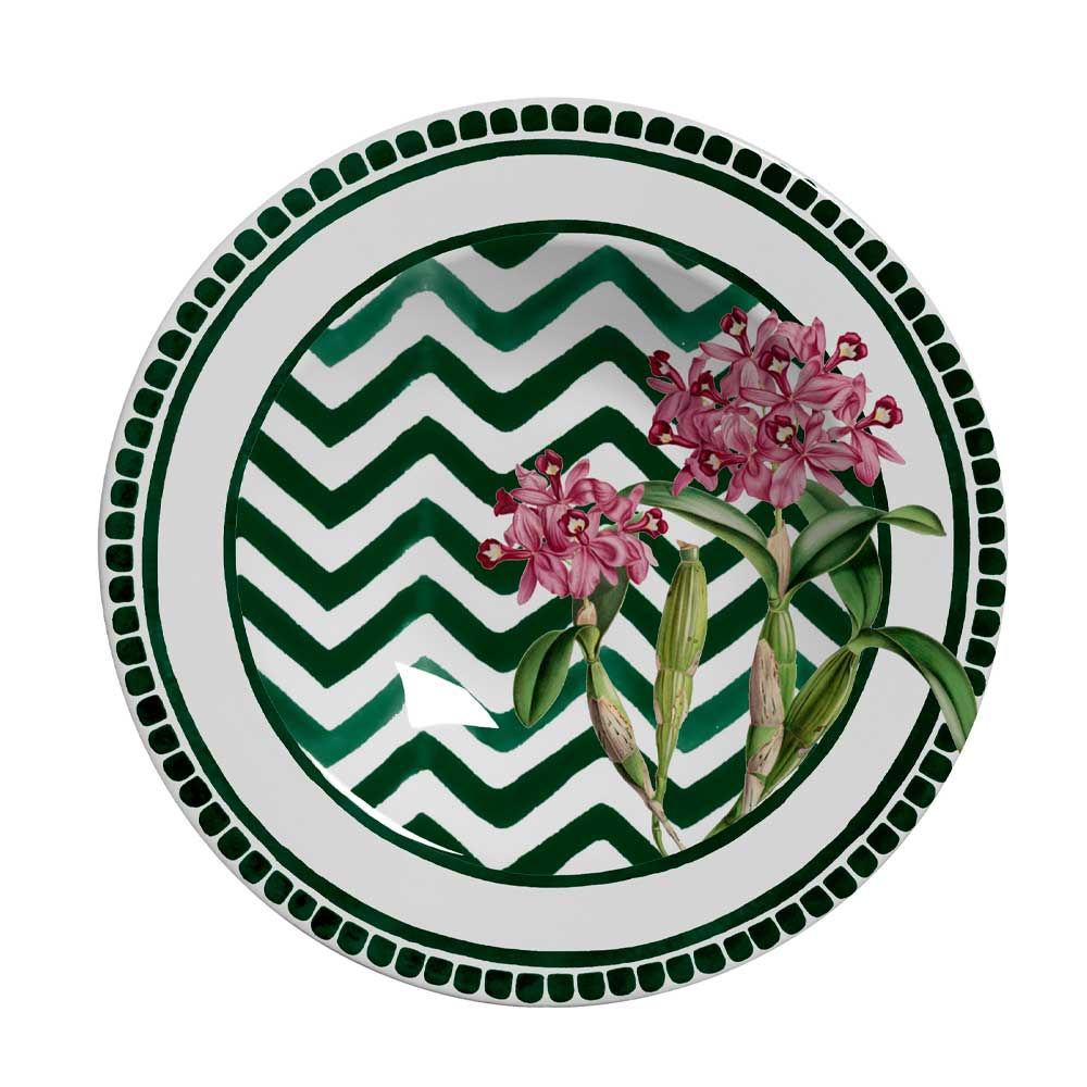 Prato Fundo de Cerâmica Orchid 24,5cm Alleanza