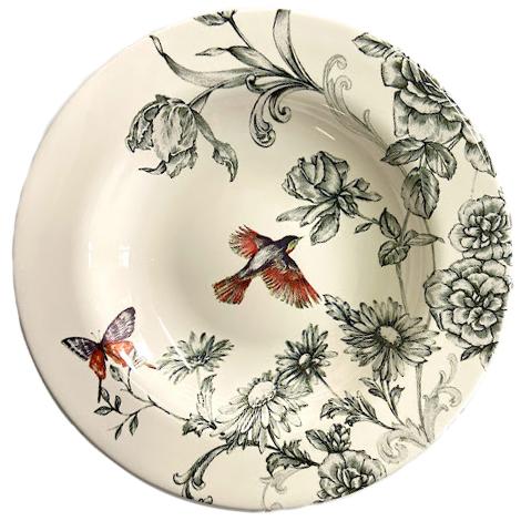 Prato Fundo de Cerâmica Volare 24,5cm Alleanza