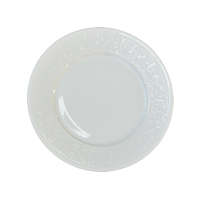 Prato Fundo de Porcelana Branco Avulso