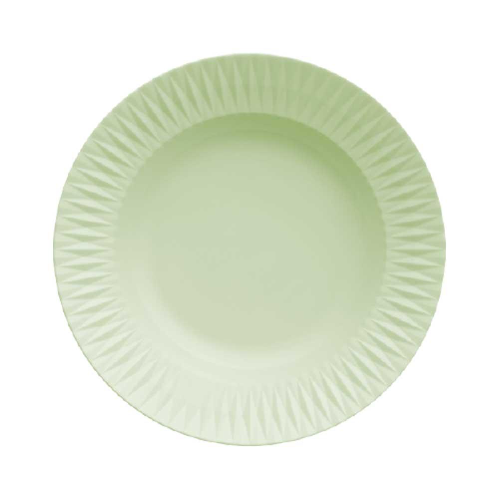 Prato Fundo Porcelana Verde Menta Diamante 23,5cm Germer