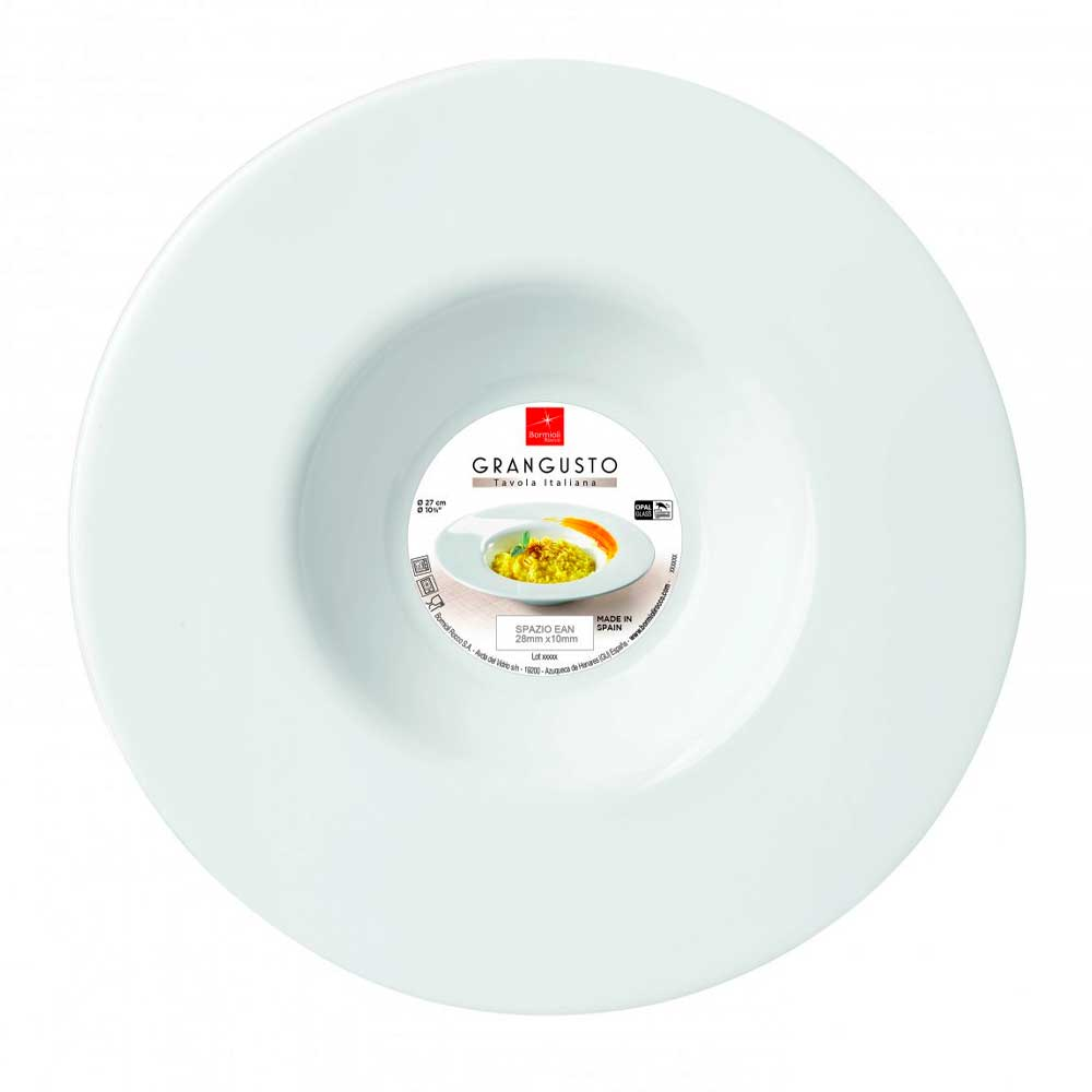 Prato para Risoto 27cm Grangusto Bormioli