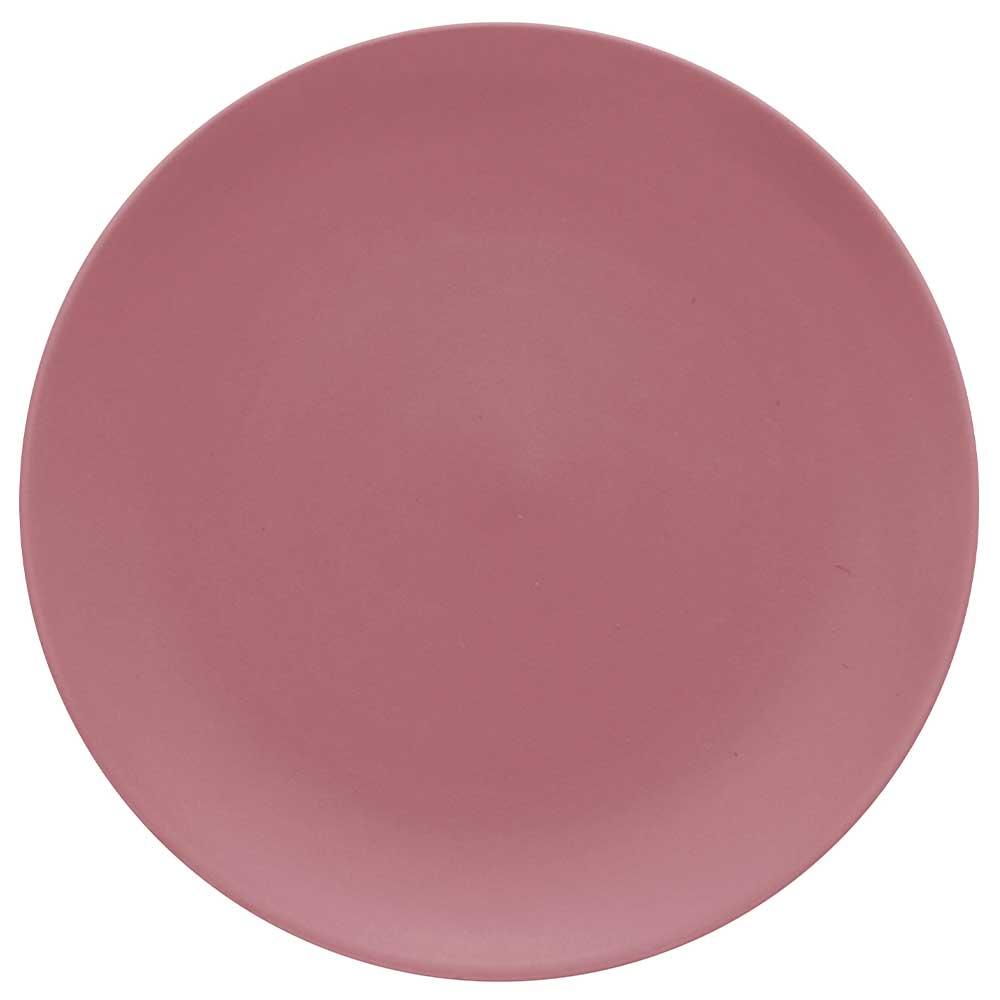 Prato Raso de Cerâmica Color Home Blush