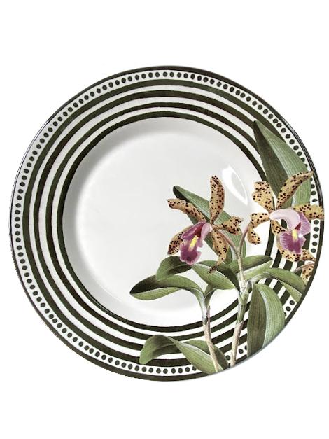 Prato Raso de Cerâmica Orchid 28,5cm Alleanza