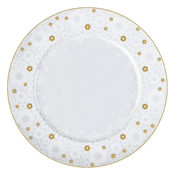 Prato Raso Versa Buque de Noiva 28cm Germer Porcelanas
