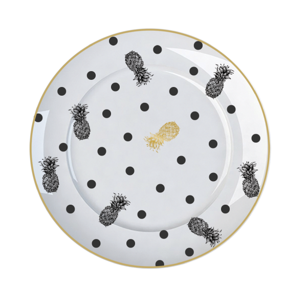 Prato Sobremesa Versa Metal Fancy 18,5cm Germer Porcelanas