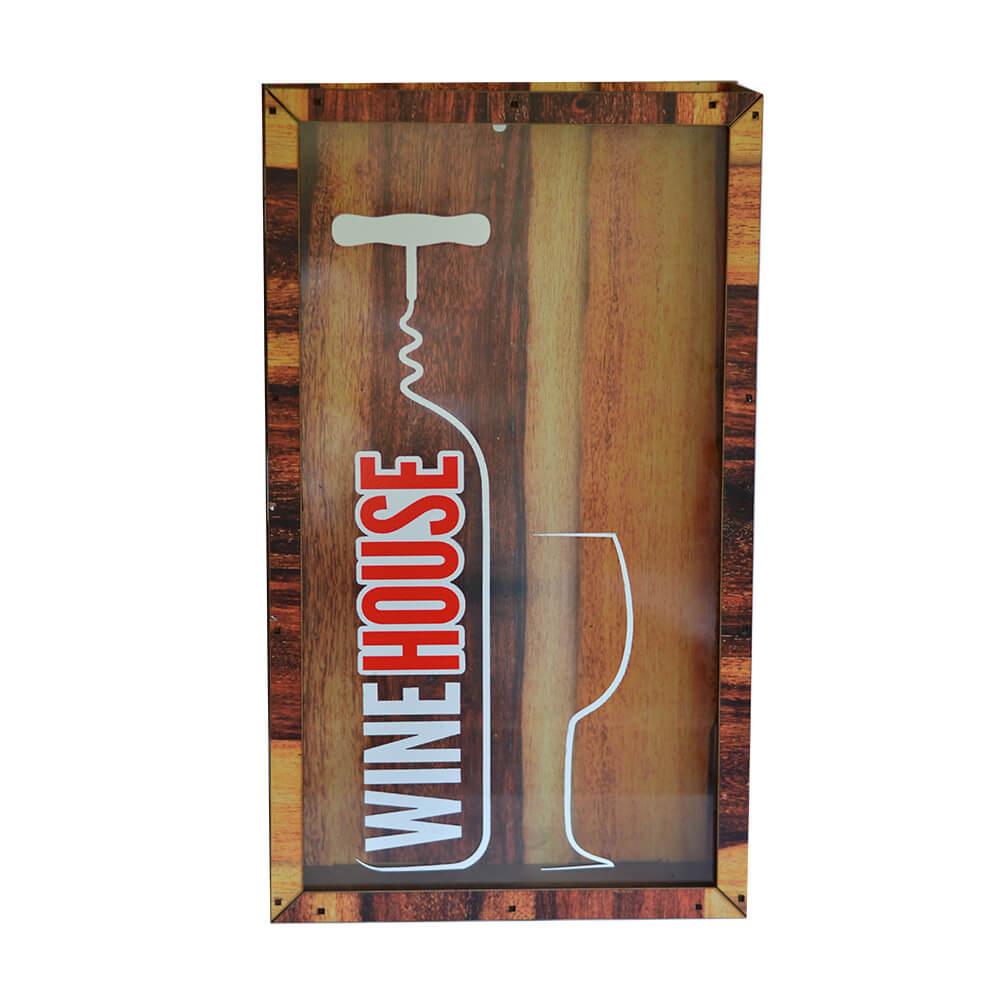 Quadro de Rolhas Wine House 45cm