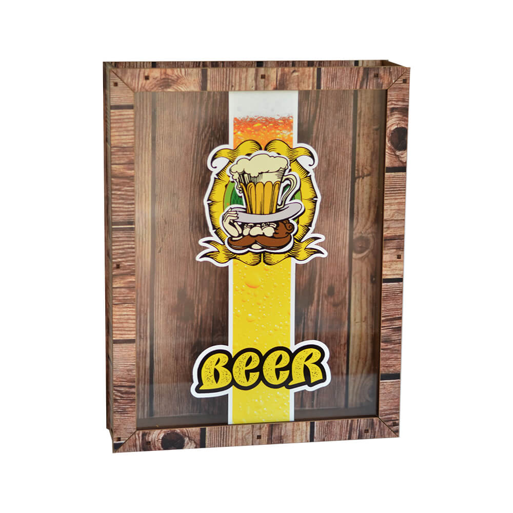 Quadro de Tampinhas Beer 30cm