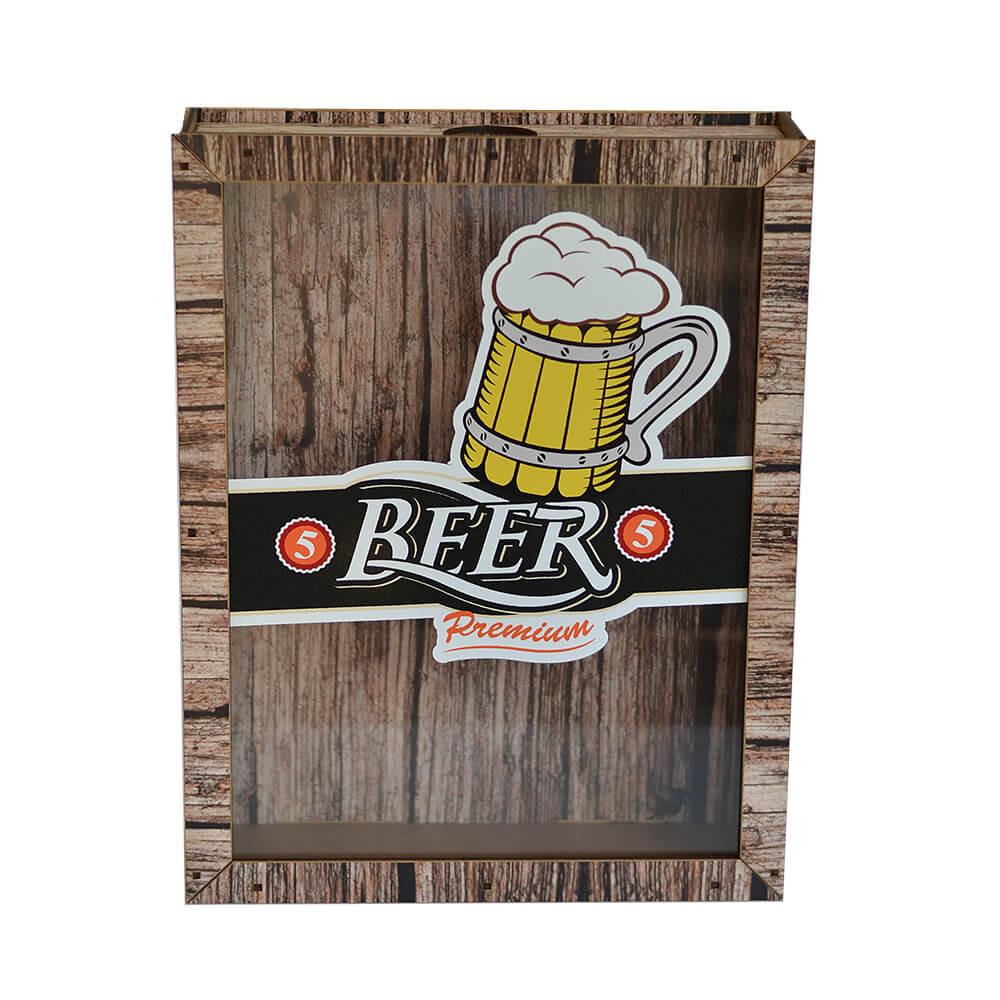 Quadro de Tampinhas Beer Premium 30cm
