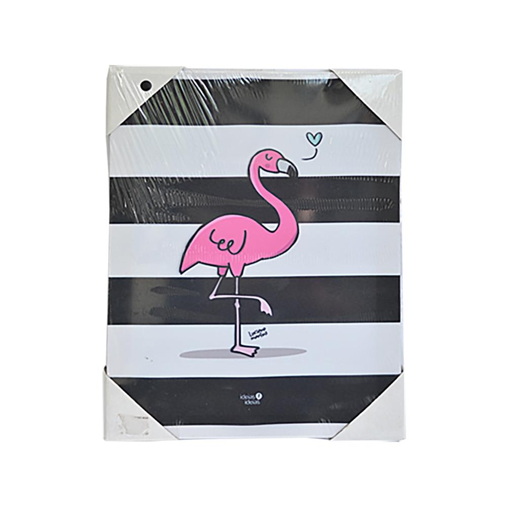 Quadro de Tecido - Flamingo