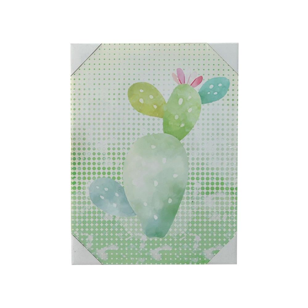 Quadro Decorativo em Canvas Cacto Verde - Mart