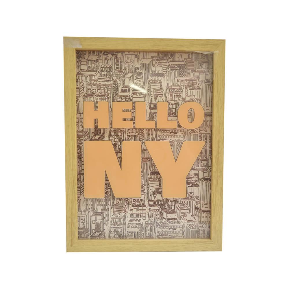 Quadro Hello NY Beje