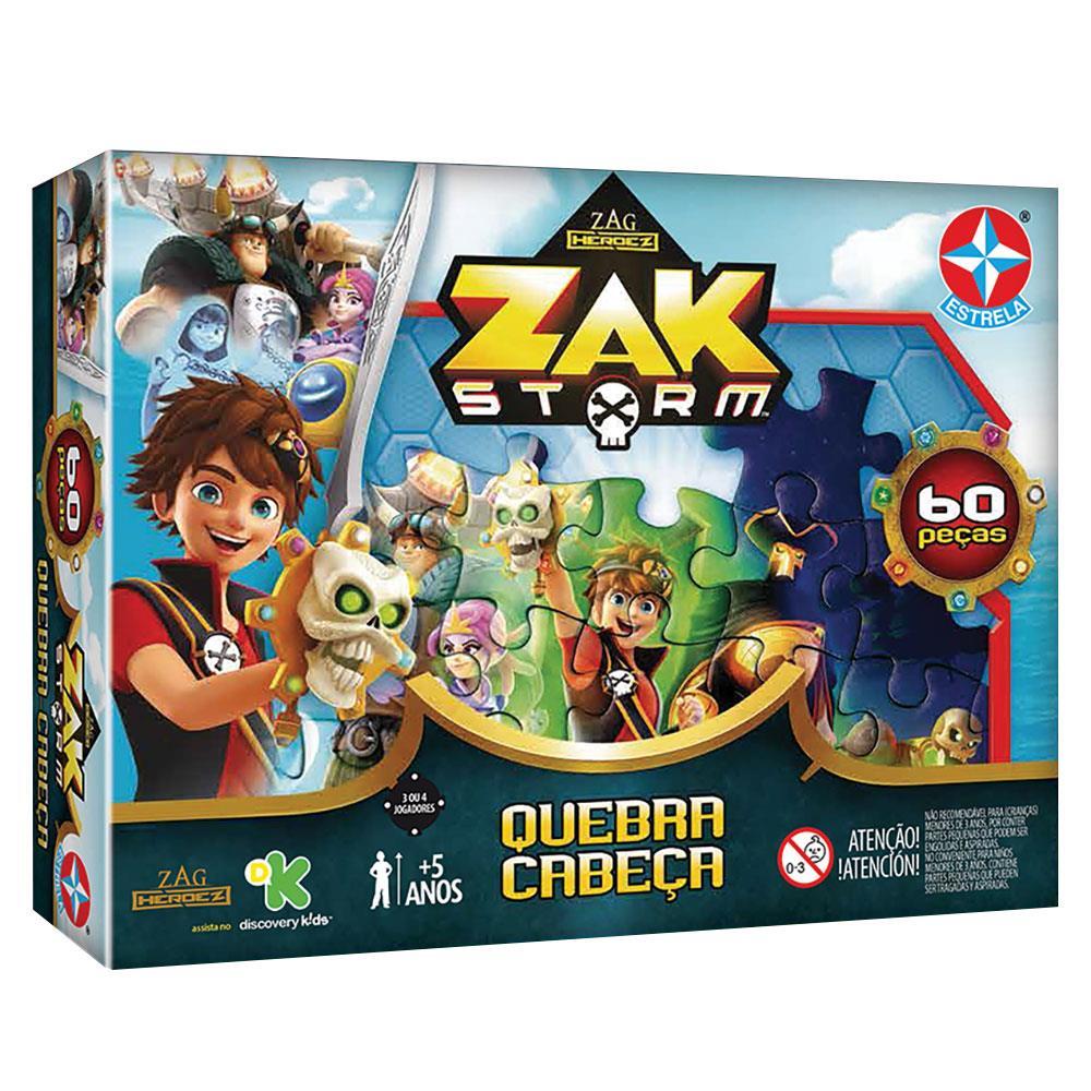 Quebra-Cabeça Zak Storm 60 Peças