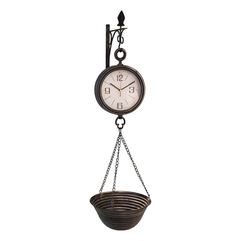 Relógio Balança em Metal Suspensa