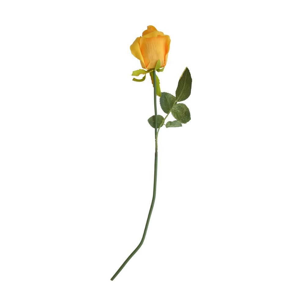 Rosa Artificial Amarela 45cm