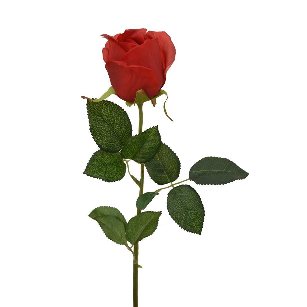 Rosa Artificial C/ Veia Vermelha 60cm