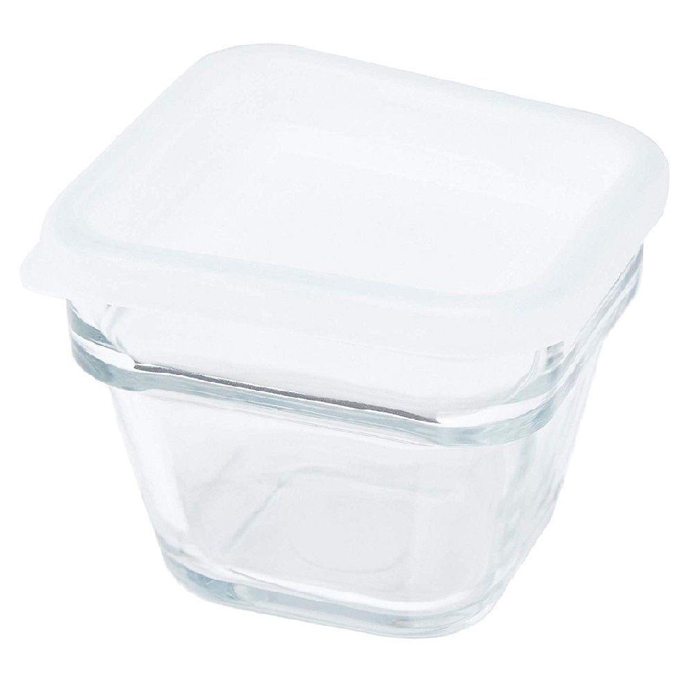 Saladeira de Vidro com Tampa Quadrada 420ml - À Table