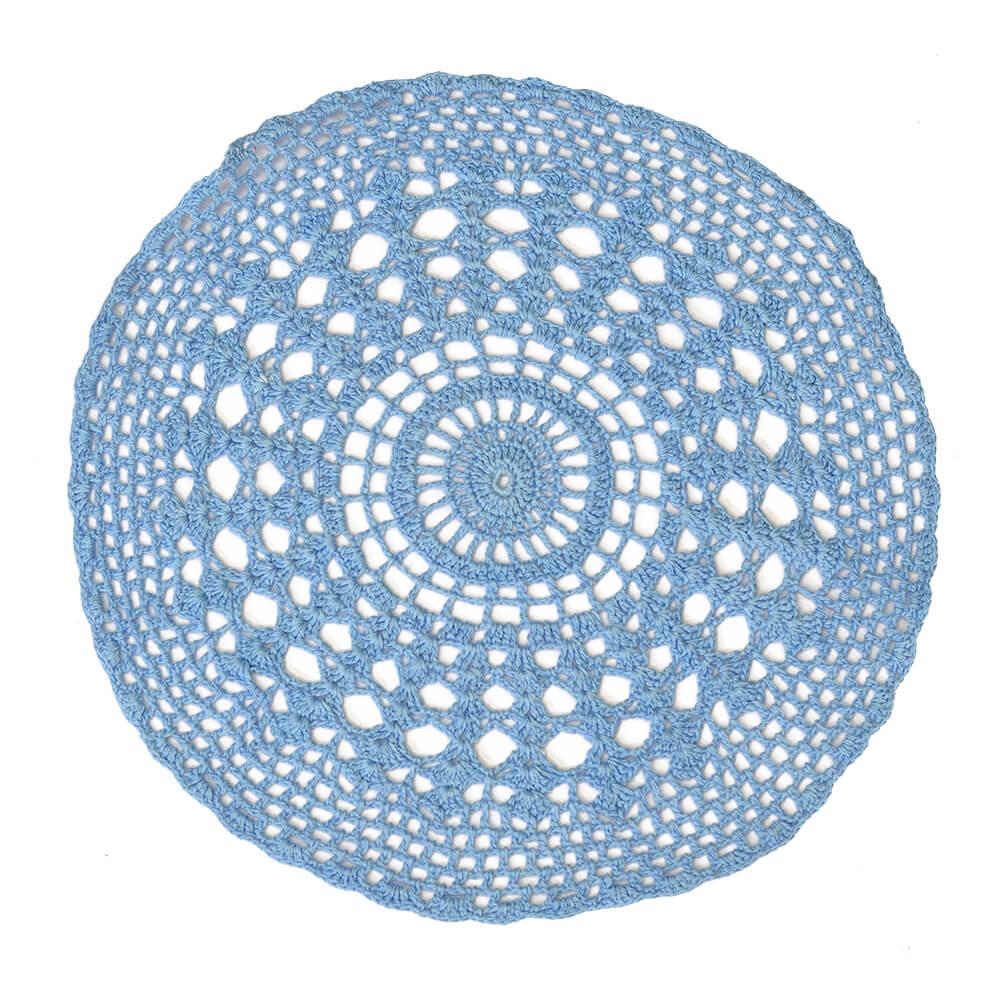 Americano Crochê Azul 33cm