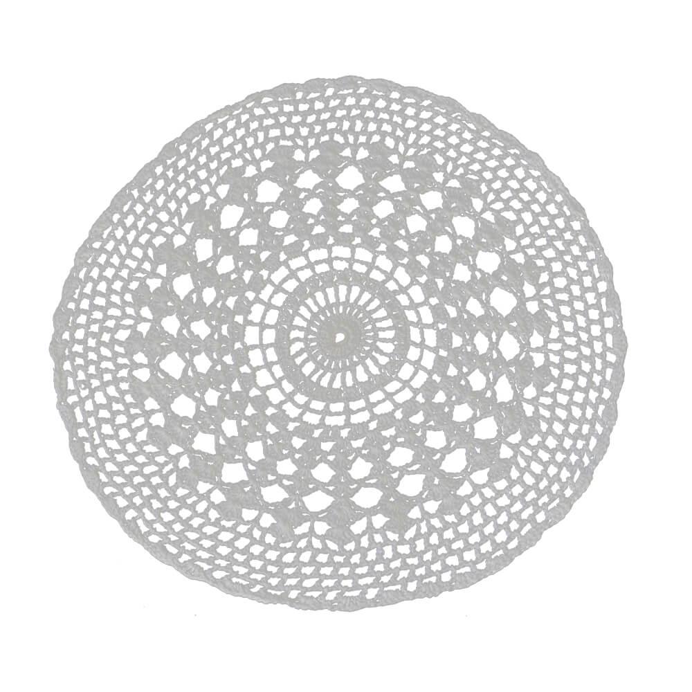 Americano Crochê Branco 33cm