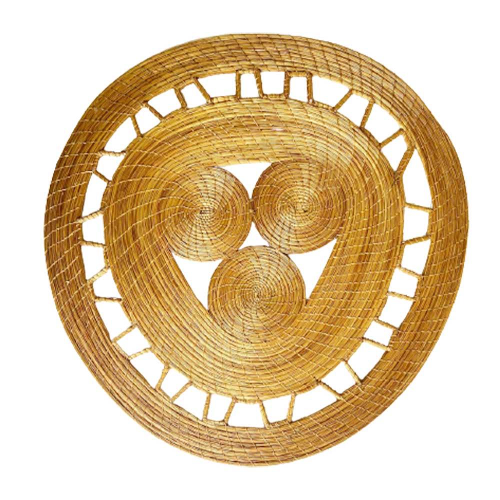 Sousplat em Capim Dourado Mandala