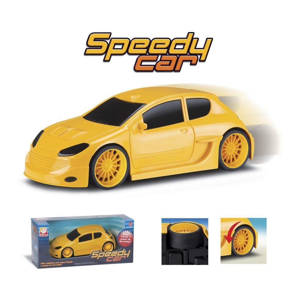 Speedy Car com Fricção Amarelo