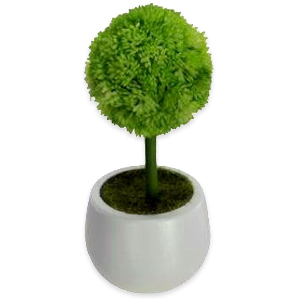 Suculenta Artificial em Vaso Branco Grama 16cm