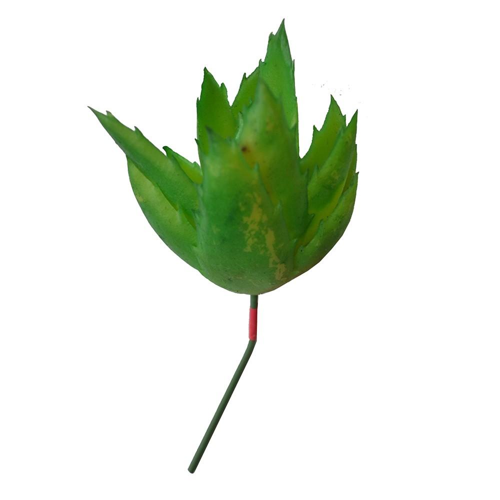 Suculenta Artificial Verde 12cm