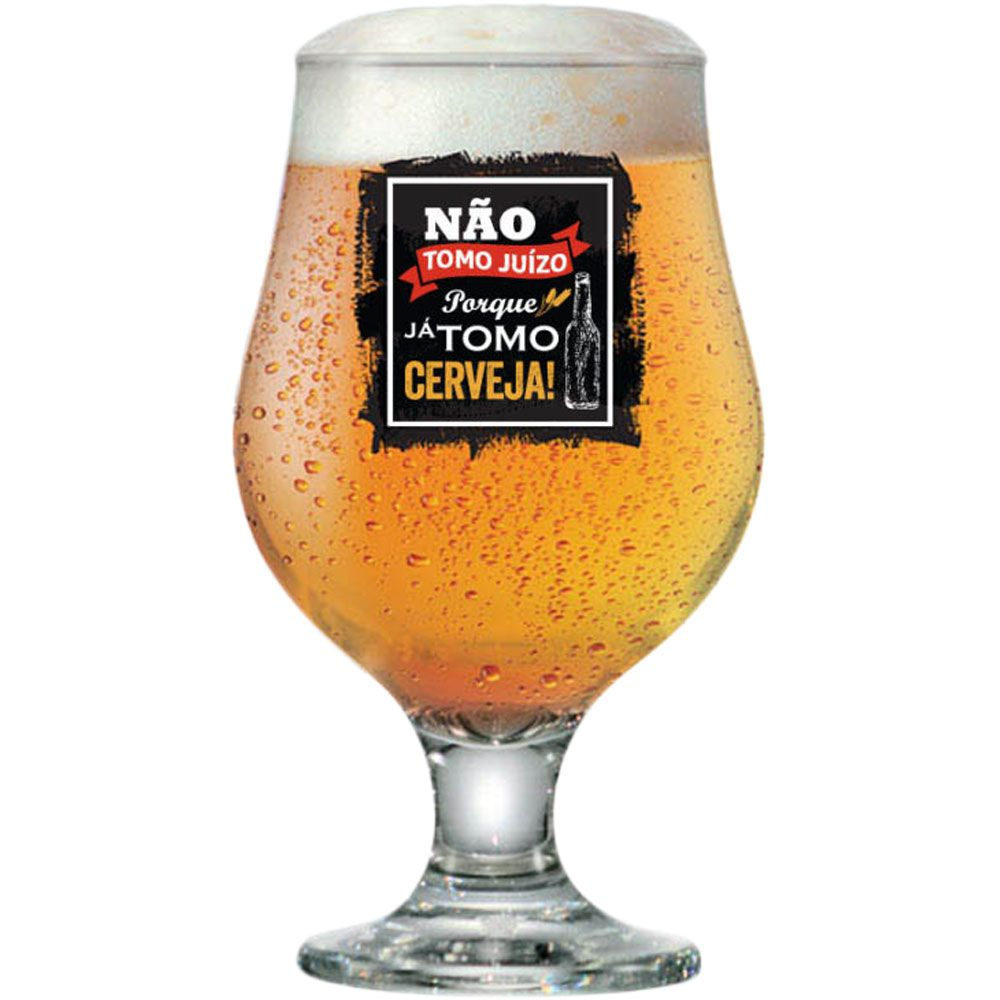 Taça de Cerveja Beer Master Funny 380ml Não Tomo Juízo