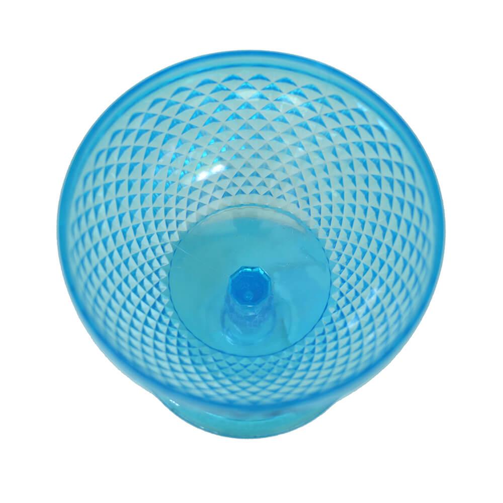 Taça de Sobremesa Acrílico Bico De Jaca 325ml Azul