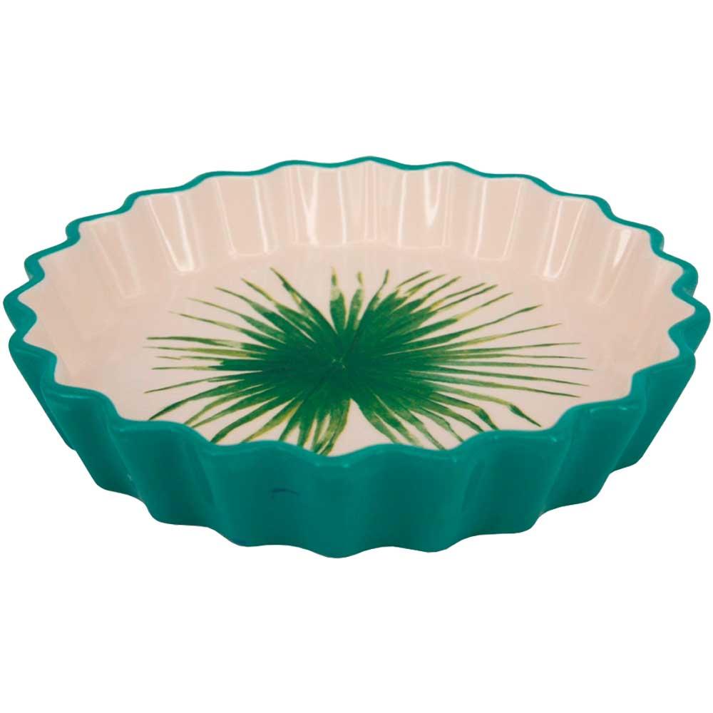Travessa Decorativa de Cerâmica Verde 22cm