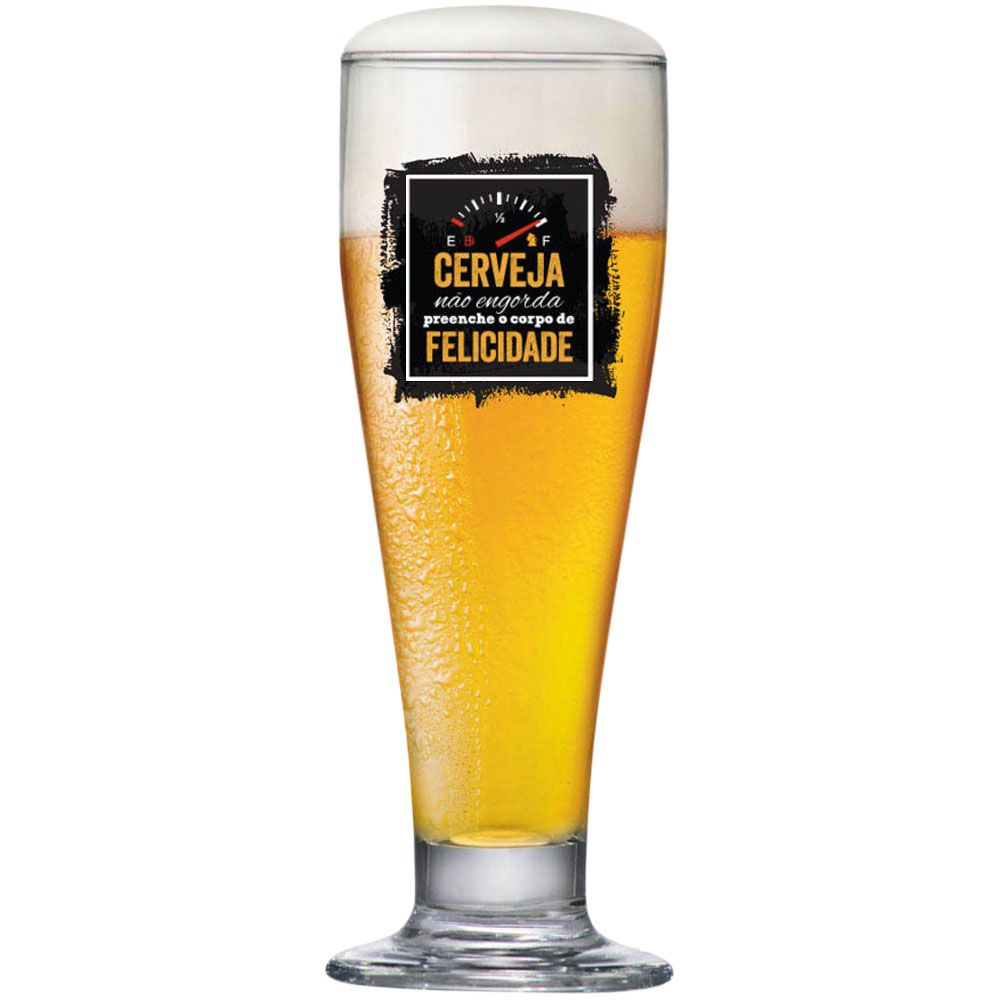 Tulipa de Cerveja Funny 300ml Cerveja Não Engorda