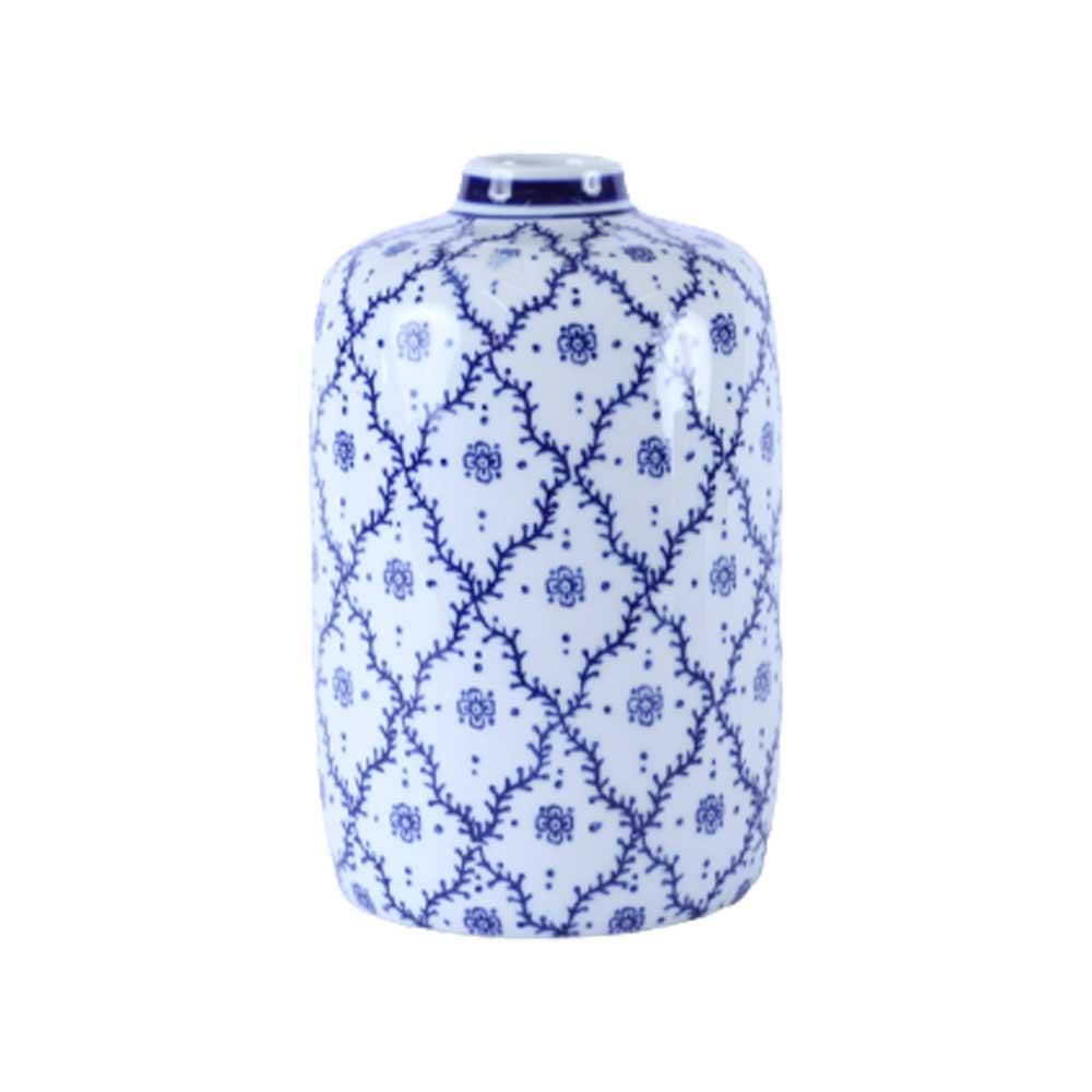 Vaso de Cerâmica Raízes Azul 25cm