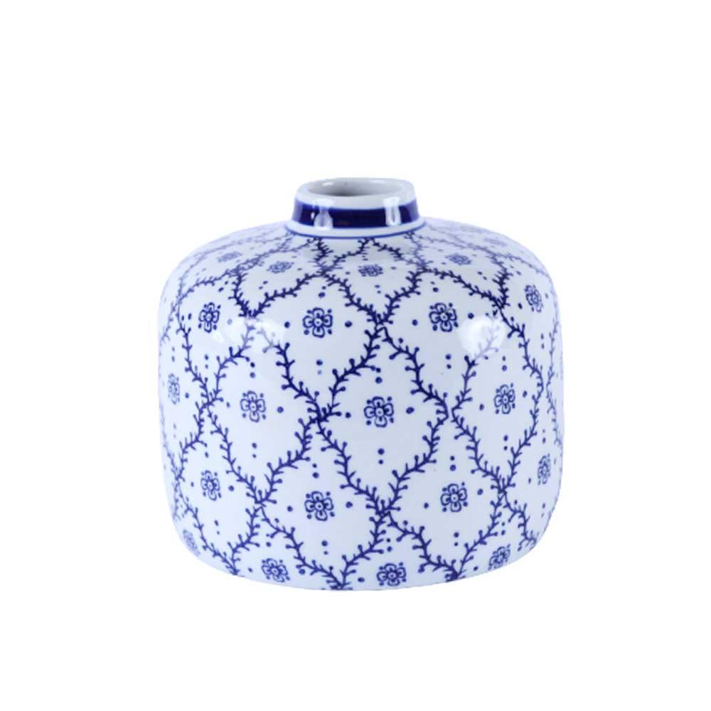 Vaso de Cerâmica Raízes Azul