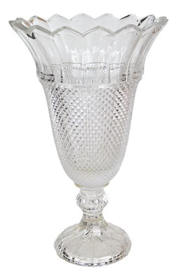Vaso de Cristal Bico de Jaca 40cm