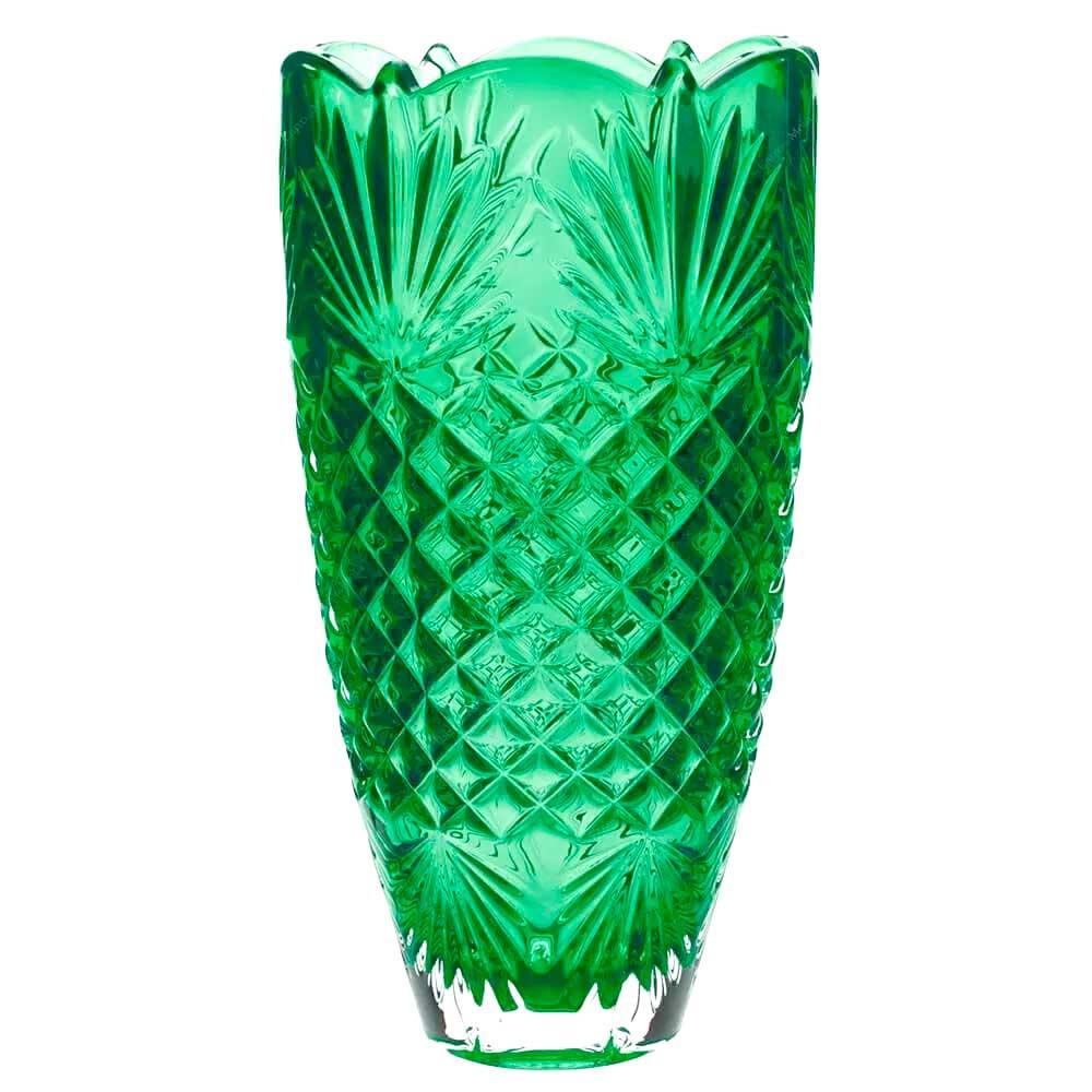 Vaso de Cristal Ecológico Verde Bohemia