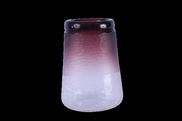 Vaso de Vidro Craquelado Marsala 28cm