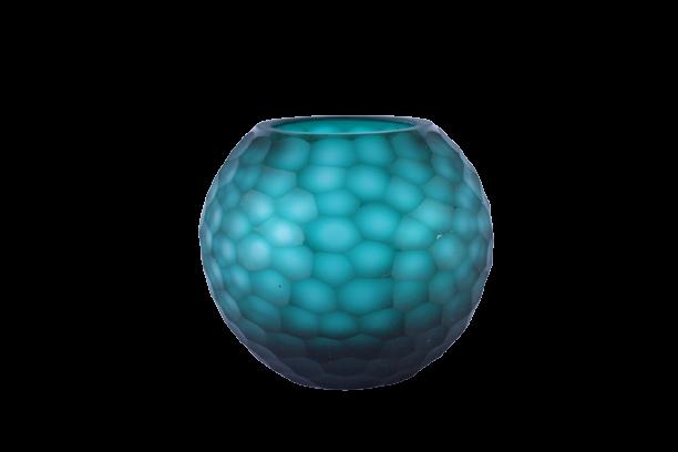 Vaso de Vidro Fosco Colmeia Verde 16cm