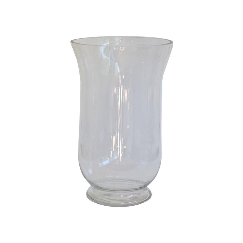 Vaso de Vidro Transparente Flor Arte 30cm
