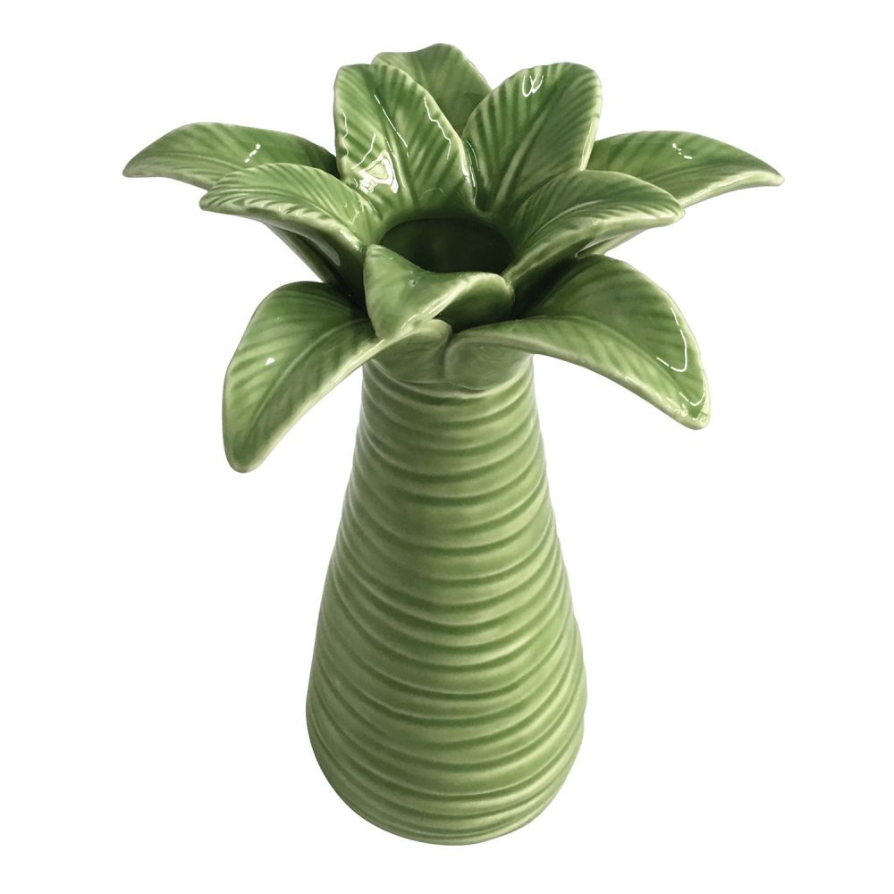 Vaso Decorativo De Cerâmica Coqueiro 18cm