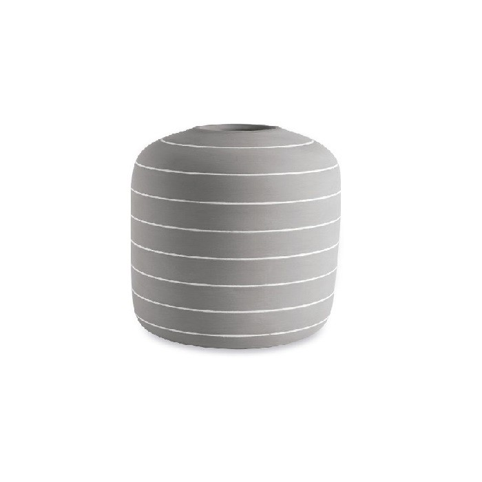 Vaso Decorativo de Cimento Abaulado 17cm