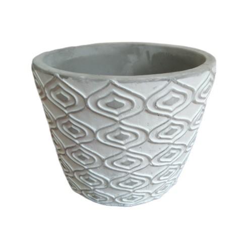 Vaso Decorativo de Cimento Geométrico 11cm