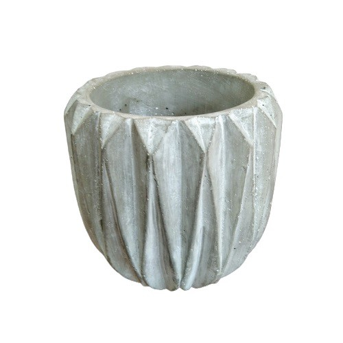 Vaso Decorativo de Cimento Geométrico